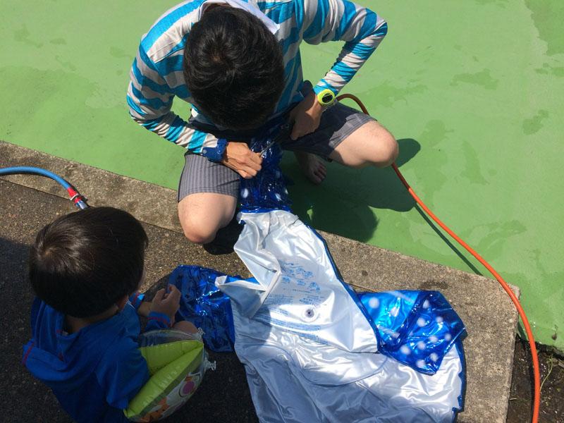 金沢健民海浜プールの無料コンプレッサー