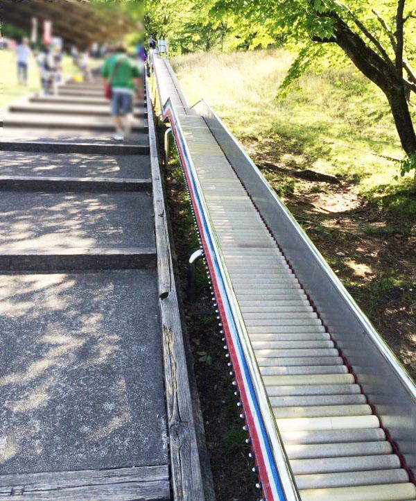 辰口丘陵公園のロングすべり台