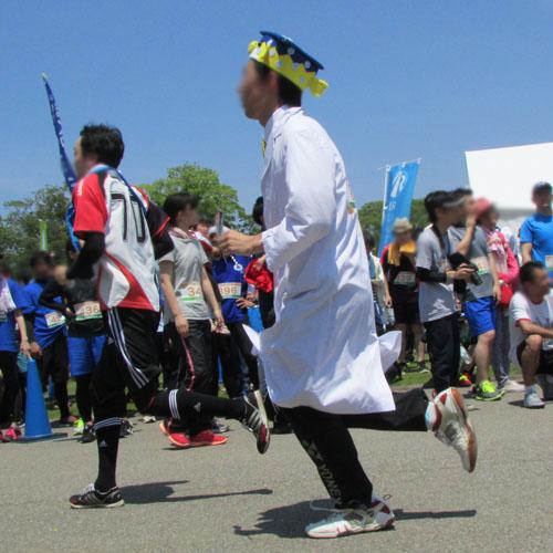 金沢城リレーマラソンさかなくんコスプレ