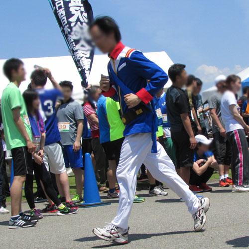 金沢城リレーマラソンアムロコスプレ