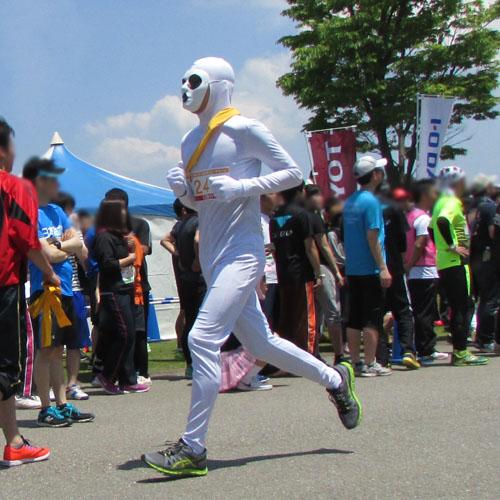 金沢城リレーマラソン白塗りコスプレ