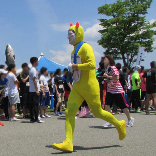 金沢城リレーマラソンドラミちゃんコスプレ
