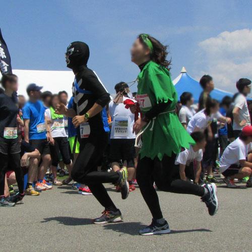 金沢城リレーマラソンショッカーコスプレ