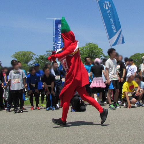 金沢城リレーマラソンとうがらしコスプレ