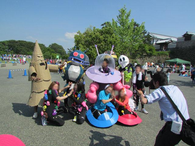 金沢城リレーマラソンアンパンマンの仲間コスプレ