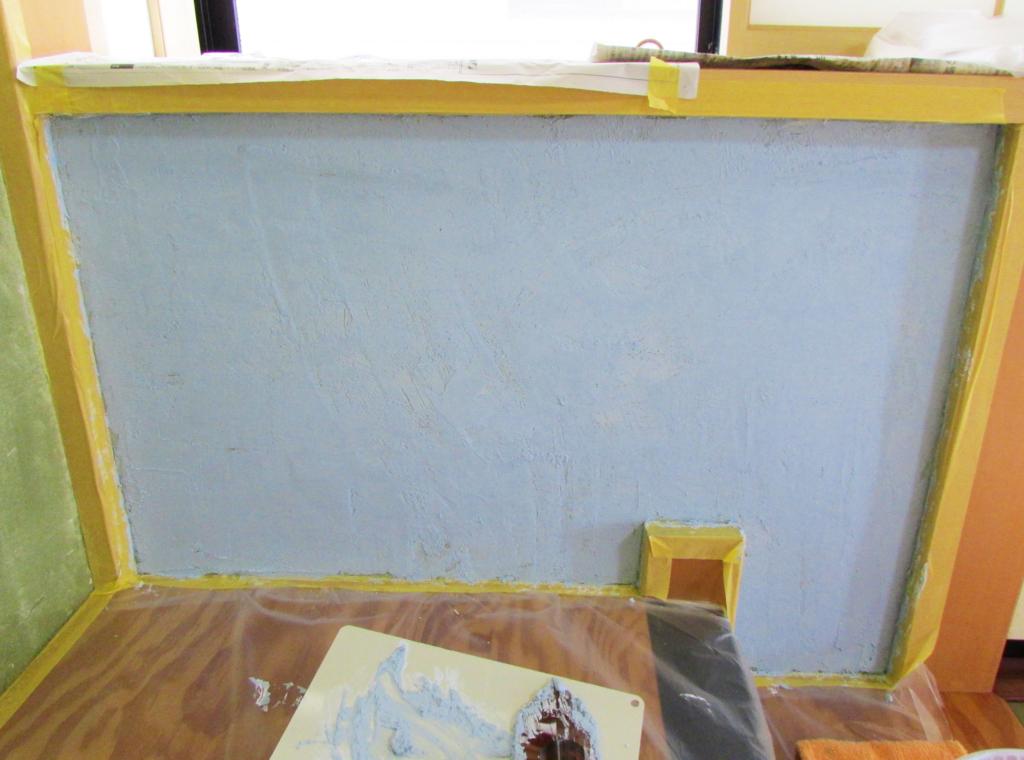 漆喰を塗ってみた