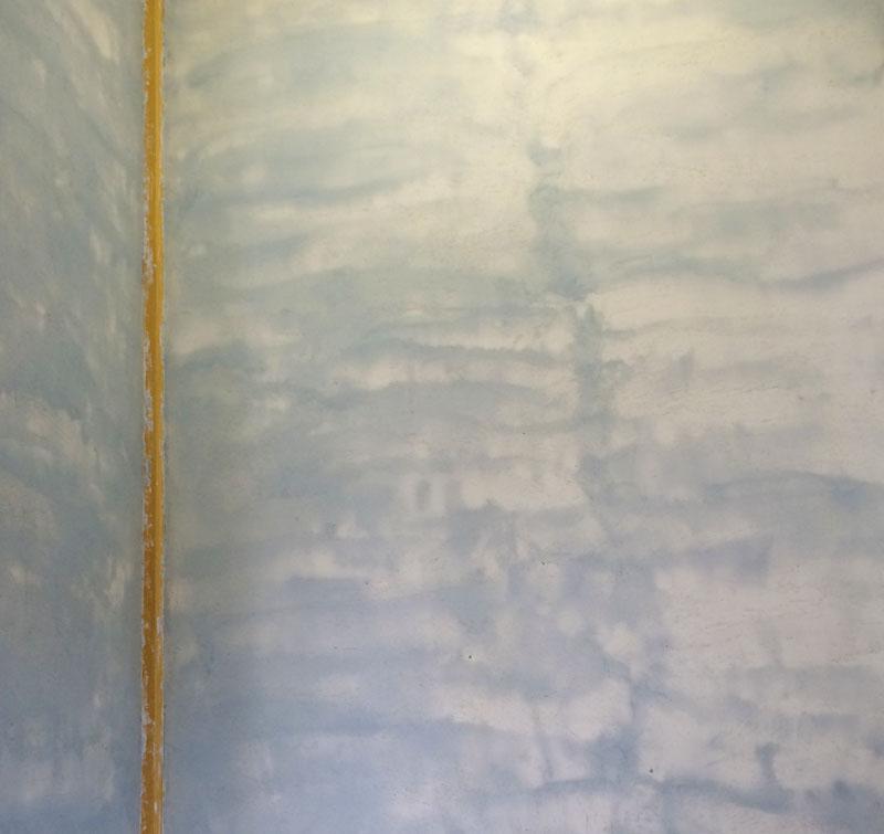 床の間に漆喰を塗ってみた