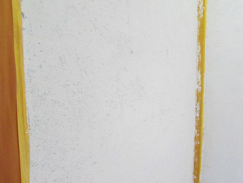 漆喰を塗ってみたデコボコ