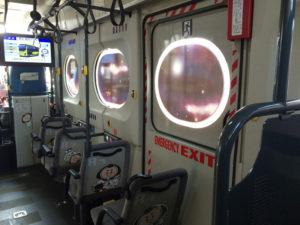 宇宙バスこまち内部