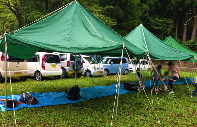 いしかわキャンプフェスティバル休憩シート