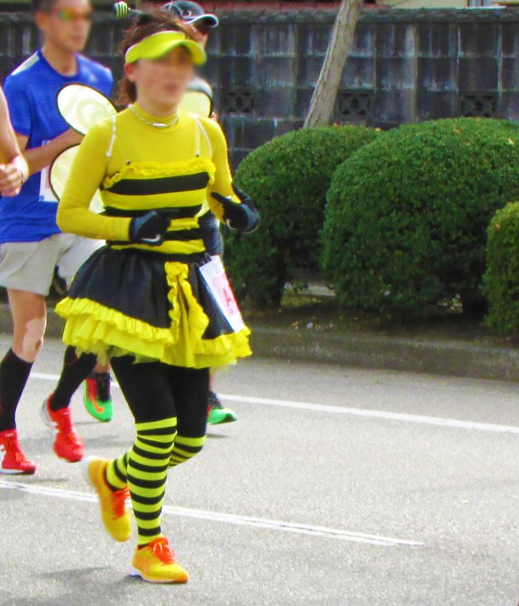 みつばち金沢マラソンコスプレランナー
