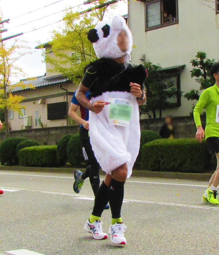 パンダ金沢マラソンコスプレランナー