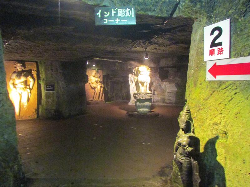 ハニベ巌窟院のインド彫刻