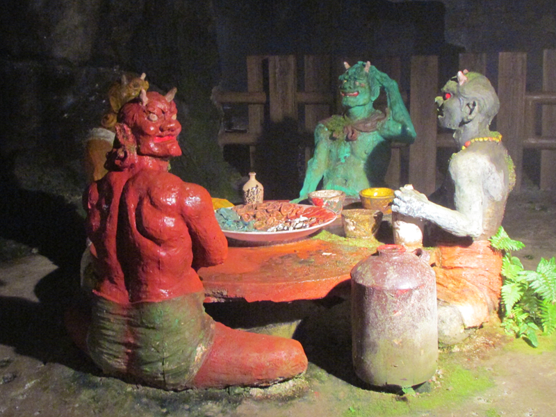ハニベ巌窟院の鬼の食卓