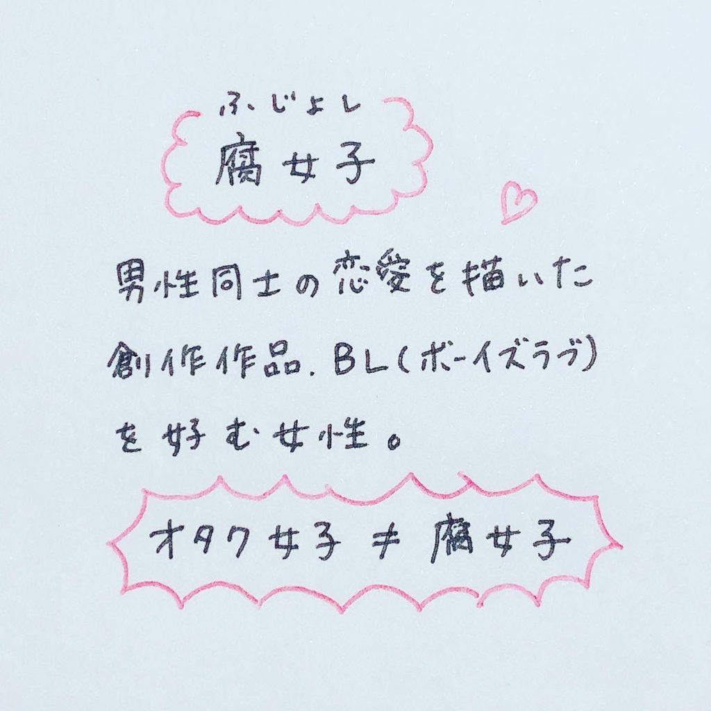 腐女子・男性同士の恋愛を描いた創作作品BL(ボーイズラブ)を好む女性