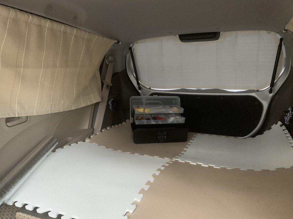 アルトエコ車中泊ベッド作り