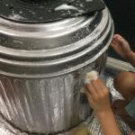 洗濯機の分解掃除ドラムを洗う