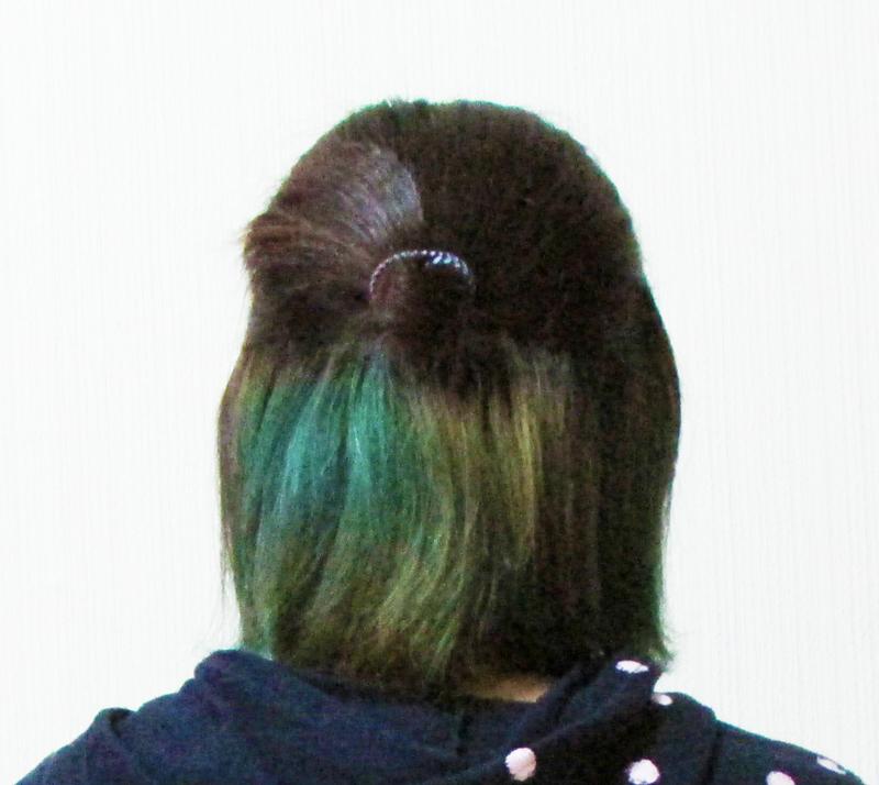 カラーバターの色落ち比較(青)
