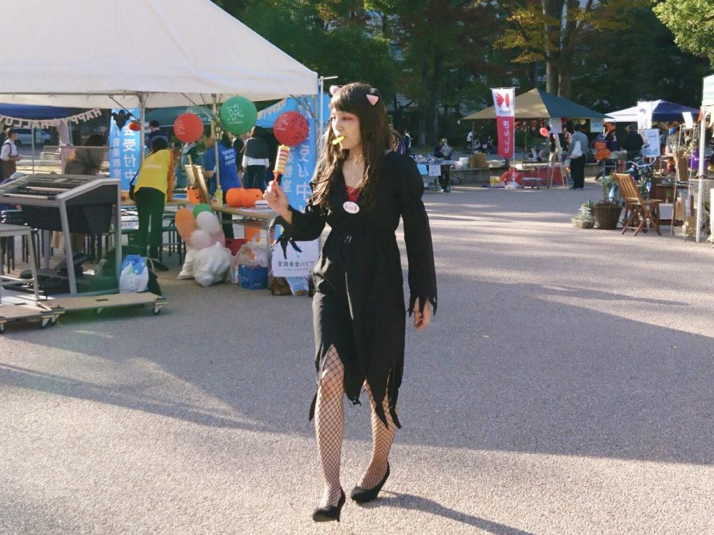 ママココハロウィン2018魔女コスプレ