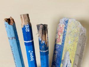 かじられた鉛筆